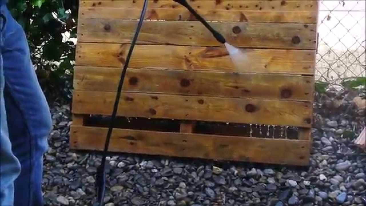 Limpiar un paleta de madera