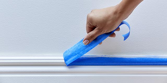 Consejo: Retire la cinta de pintor sin dañar la pintura.