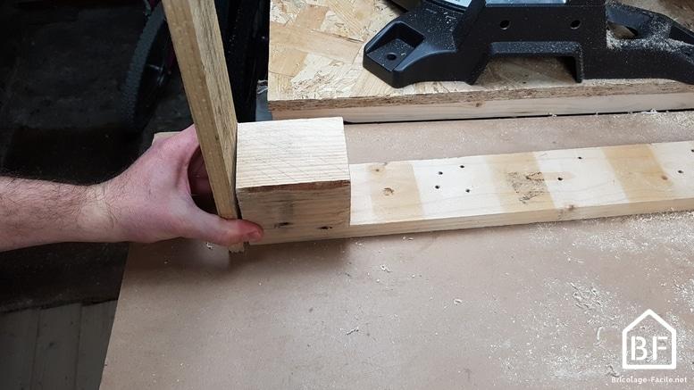 Propósito de pie de paleta de madera-