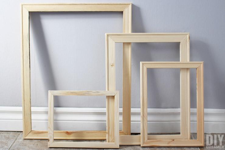 DIY: ¿Cómo hacer un marco de fotos de madera?