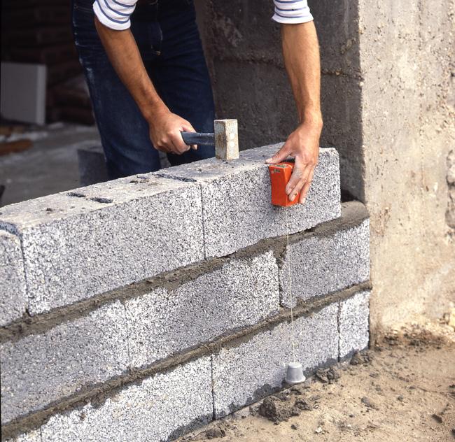 Albañilería: ¿cómo hacer un muro en bloques?