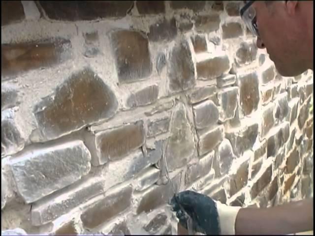 Albañilería: ¿cómo rehacer las uniones de un muro de piedra?
