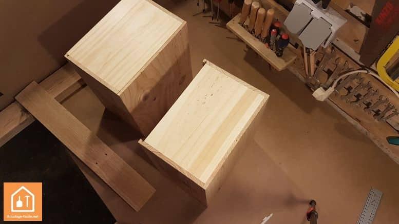 Hacer un almacenamiento de cajas de madera: bricolaje